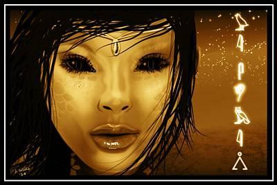 Digital Art - Alien Witch by John Wills
