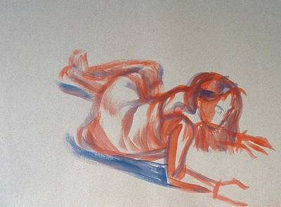 Female Figure Painting Original by Mike Jory