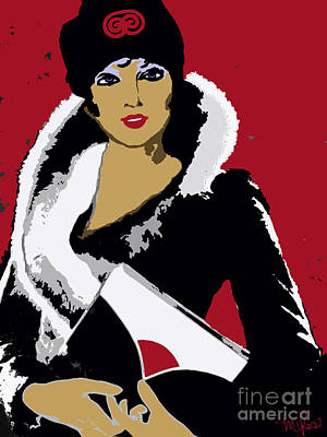 Painting - Femme Fatale C 1930 Premeditated Beauty by Saundra Myles