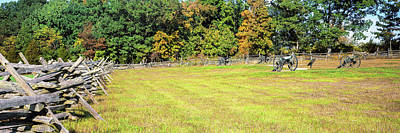 Gettysburg Photograph - Fence At Gettysburg National Military by Panoramic Images