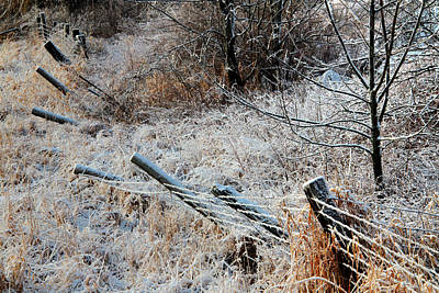 Photograph - Fence In Winter by Jim Vance