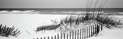 Fence On The Beach, Alabama, Gulf Art Print by Panoramic Images