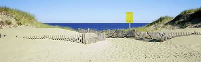 Sand Fences Photograph - Fence On The Beach, Cape Cod by Panoramic Images