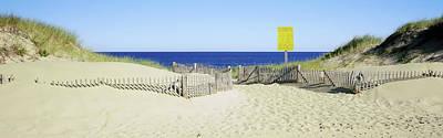 Fence On The Beach, Cape Cod Art Print