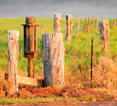 Mixed Media - Fence Post by Pamela Walton