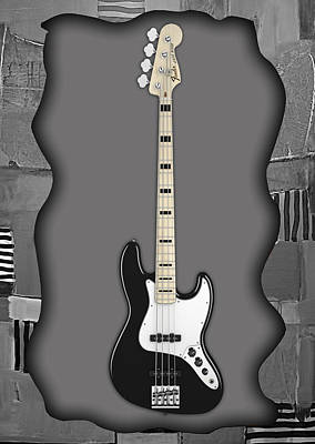 Bass Mixed Media - Fender Bass Guitar Collection by Marvin Blaine