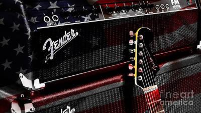Fender Guitar And Amp Art Print