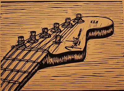 Fender Strat Art Print by William Cauthern