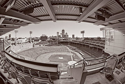 Fenway Park Photograph - Fenway Park And Boston Skyline by Susan Candelario