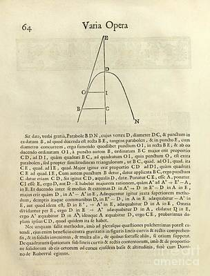 Fermat's Tangent Method Art Print by Royal Astronomical Society
