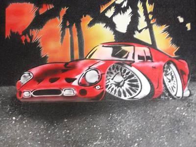 250gto Painting - Ferrari 250gto On The Beach by Bianca Struna