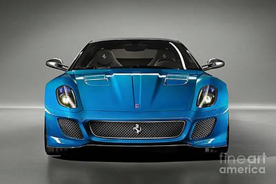 Horse Mixed Media - Ferrari 559 Gto Sports Car by Marvin Blaine