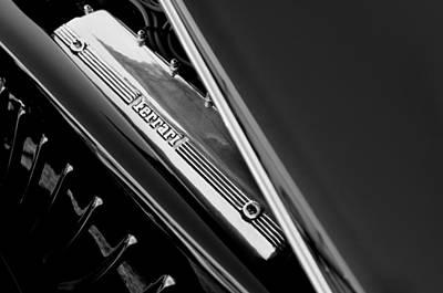 Ferrari Engine - 2011 Frank Lockhart Tribute Boattail Speedster Custom Roadster  Art Print by Jill Reger