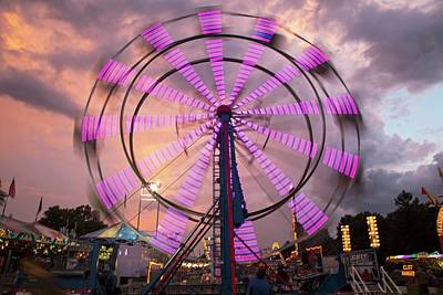 Chatham Photograph - Ferris Wheel Fairground Ride by Jim West