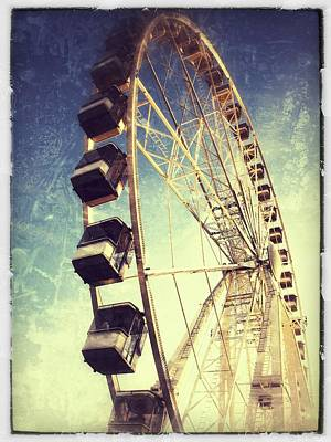 Ferris Wheel In Paris Print by Marianna Mills