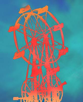 Wheel Mixed Media - Ferris Wheel Pop Art by Dan Sproul