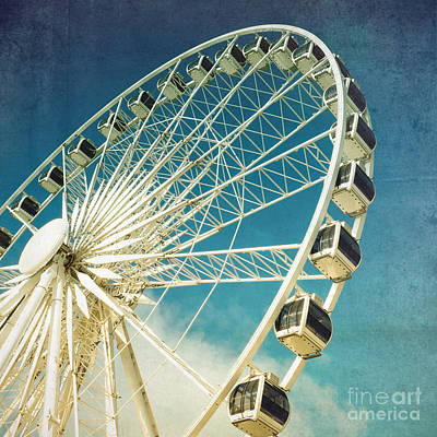 Colors Photograph - Ferris Wheel Retro by Jane Rix