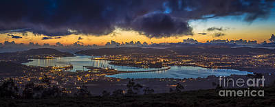 Photograph - Ferrol Estuary Panoramic View From Mount Marraxon Galicia Spain by Pablo Avanzini
