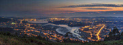 Ferrol's Ria Panorama From Mount Ancos Galicia Spain Art Print