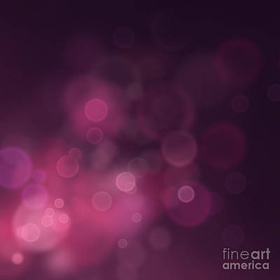 Mythja Digital Art - Festive Bokeh Background by Mythja  Photography
