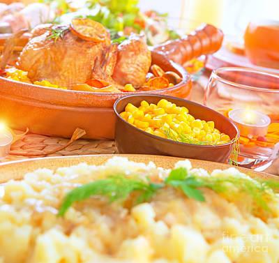 Photograph - Festive Dinner by Anna Om