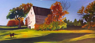 Chocolate Labrador Retriever Painting - Fetch by Jane Croteau