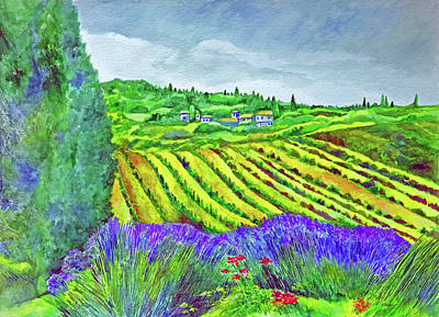 Fields At Dievole Art Print