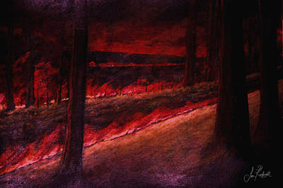 Burning Bush Mixed Media - Fiery Night by Sean Roderick