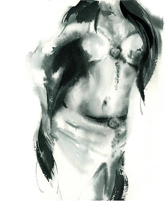 Belly Dancer Painting - Figurative II by Sophia Rodionov