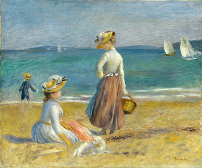 Figures Beach Renoir Painting - Figures On The Beach by Pierre-Auguste Renoir