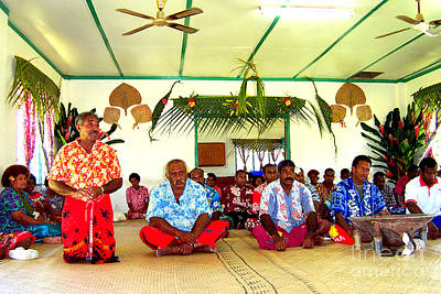 Photograph - Fijian Kava Ceremony by John Potts