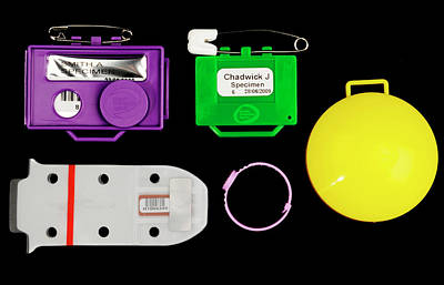 Film Badge Radiation Dosimeters Art Print by Public Health England