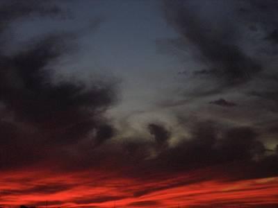 Typography Tees - Film Homage Akira Kurosawa Ran 1985 Fiery Clouds Casa Grande Arizona 2004 by David Lee Guss