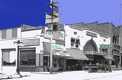 Film Homage Director Allan Dwan Soldiers Of Fortune 1919 Lyric Theater Tucson Arizona 1919-2008 Art Print