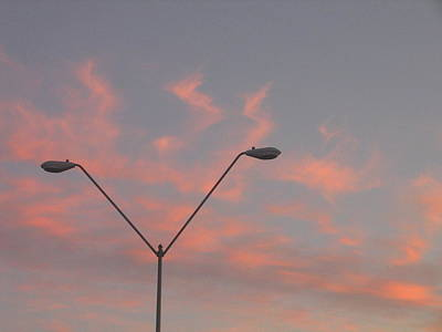 Creative Charisma - Film Homage George Pal The War Of The Worlds 1953 Parking Lot Lights Casa Grande Arizona 2004 by David Lee Guss
