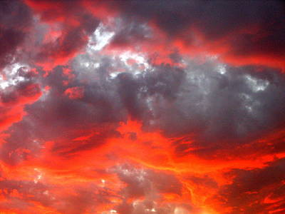 Just Desserts - Film Noir Homage Leave Her To Heaven Number 2 Fiery Clouds Casa Grande 2005 by David Lee Guss