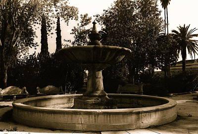 Film Noir Mary Astor A Kiss Before Dying Fountain El Paso And Southwestern Rr Depot Tucson Arizona Art Print