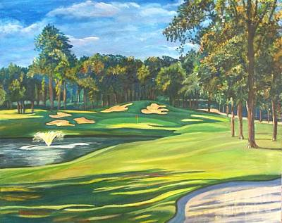 Final Hole At Walden On Lake Conroe Art Print by Frank Giordano