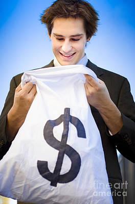 Financial Reward Of Business Success Art Print