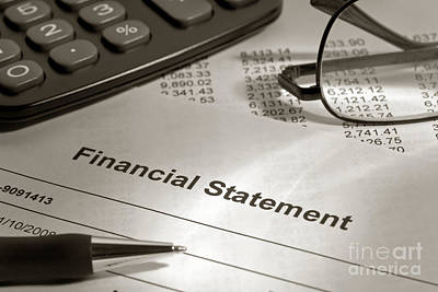 Equity Photograph - Financial Statement On My Desk by Olivier Le Queinec