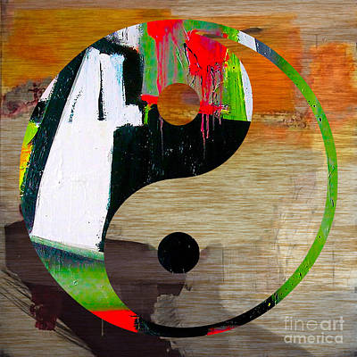 Yin And Yang Mixed Media - Finding Balance by Marvin Blaine