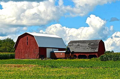 Photograph - Finger Lakes Farm by Frozen in Time Fine Art Photography