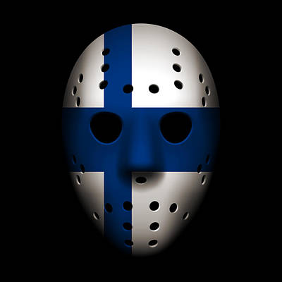 Photograph - Finland Goalie Mask by Joe Hamilton