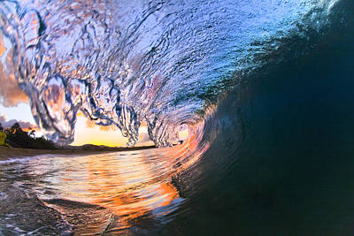 The Tube Wall Art - Photograph - Fire And Ice by Sean Davey