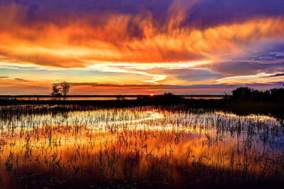 St. Simons Island Photograph - Fire by Debra and Dave Vanderlaan