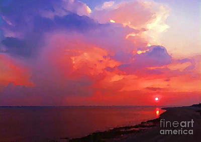 Fire In The Sky Art Print by Holly Martinson