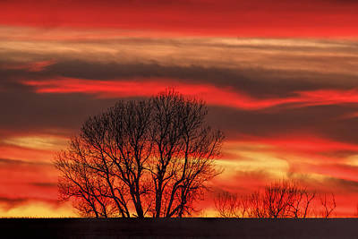 Photograph - Fire In The Sky by Scott Bean