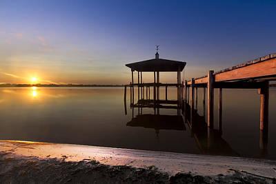 Florida Bridge Photograph - Fire Lake by Debra and Dave Vanderlaan