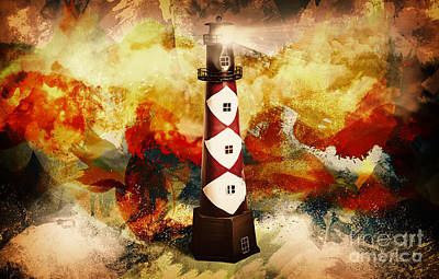 Digital Art - Fire On Lighthouse Hill by Jorgo Photography - Wall Art Gallery