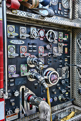 First Responders Photograph - Fireman Control Panel by Paul Ward